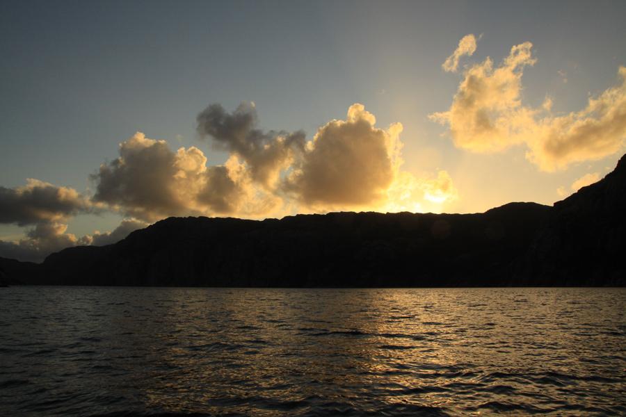 Sonnenuntergang über dem Lysefjord.