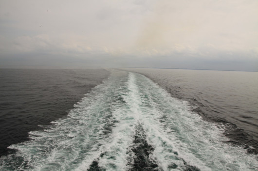 Auf der großen Fähre Richtung Norwegen.