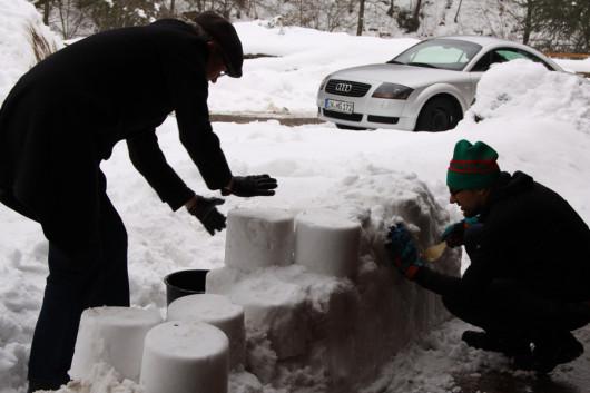 Die Anfänge unserer Schneebar.