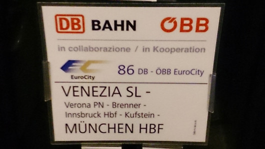 EC Venezia - Verona - Bozen - Brenner -  Innsbruck - Kufstein - München