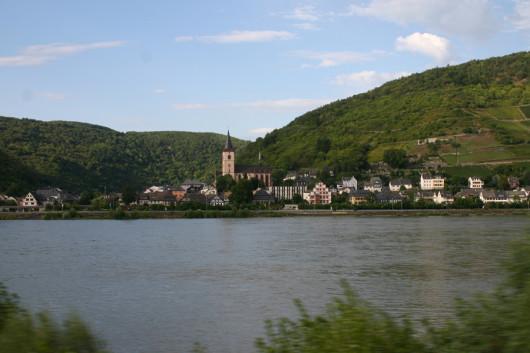 Die durch den Ausfall nicht gefahrene linke Rheinstrecke.