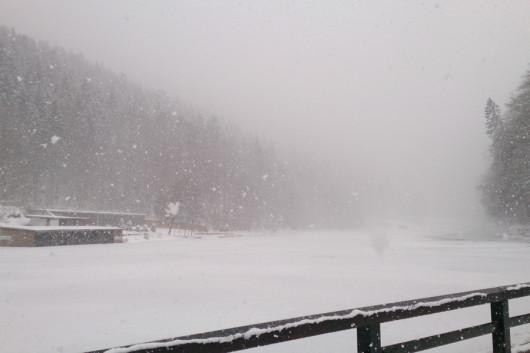 Am Rießersee war das Wetter leider ziemlich ungemütlich!