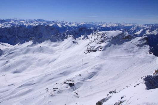 Das Skigebiet am Zugspitzplatt.