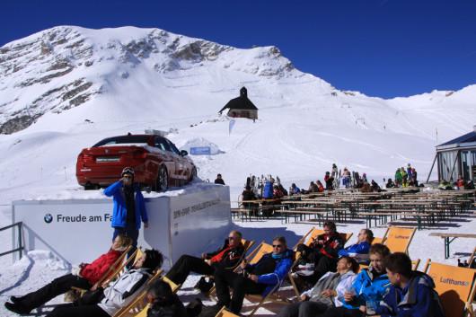 Das SonnAlpin-Restaurant auf dem Zugspitzplatt.