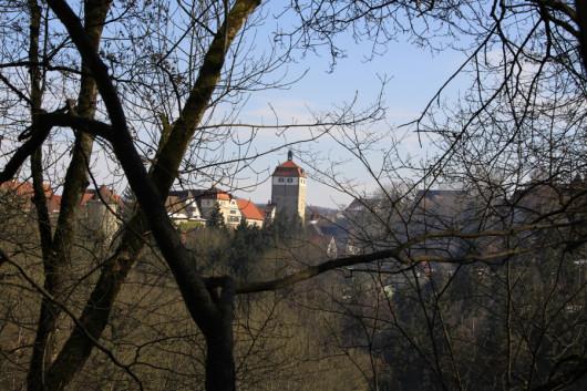 Der Blick zurück auf der Vellberger Städtle.