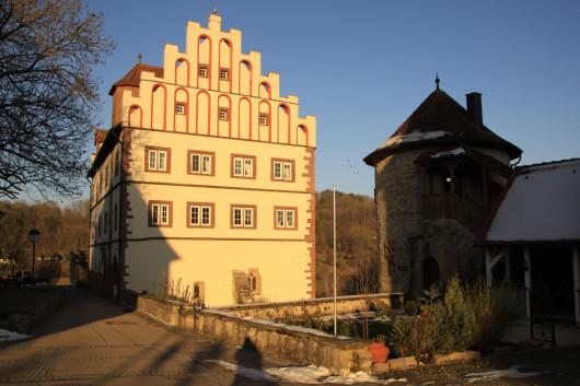 Das Vellberger Schlössle am Ende der Stadtanlage.