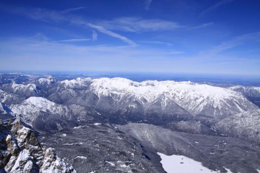 Blick von der Zugspitze Richtung Heimat.