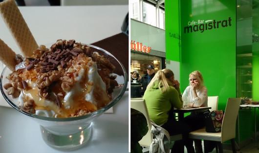 Und schließlich mein Ausklang im Café Magistrat.