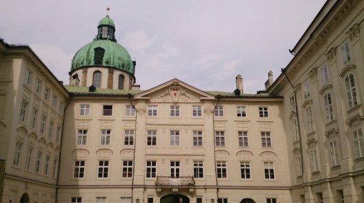 Nicht von innen besichtigt, die Innsbrucker Hofsburg.