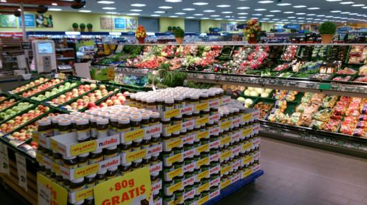 Ein nicht nachbearbeitetes Testfoto im Supermarkt.