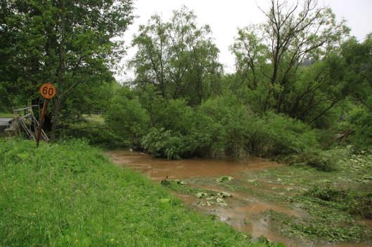 Auch hier staute sich nochmals ordentlich Wasser.