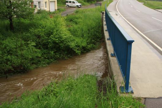 Keine Hochwasserauswirklungen in Willa.