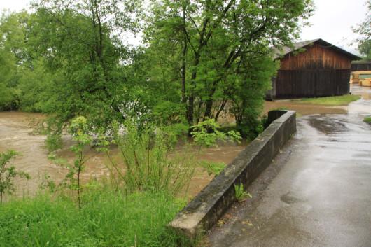 Das Sägewerk in der Mettelmühle. Von dieser Seite nicht mehr erreichbar.