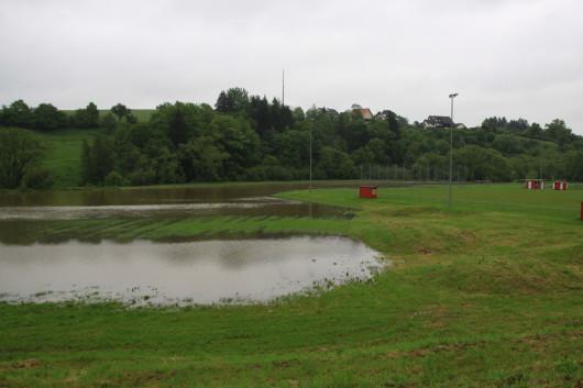 Ein Teil des Jagstzeller Sportplatzes.