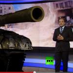 3D-Panzer im Nachrichtenstudio?