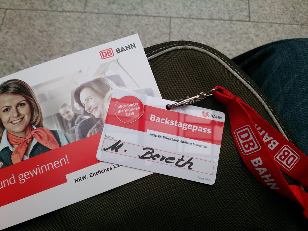 Mein Backstage-Pass für die Betriebszentrale in Duisburg.
