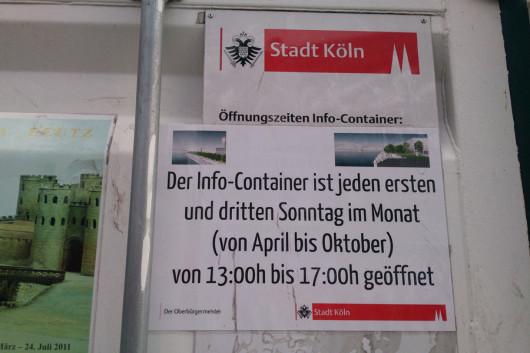 Noch bis Ende Oktober muss man den Container ertragen? Wow...