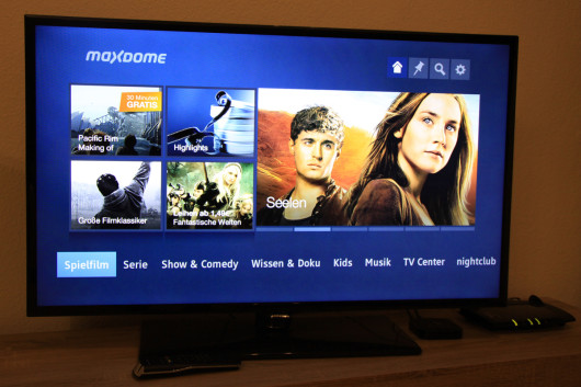 Die maxdome-App auf meinem Samsung TV.