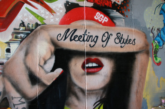 """Meeting of Styles"" - internationales Graffiti-Festival in Wiesbaden."