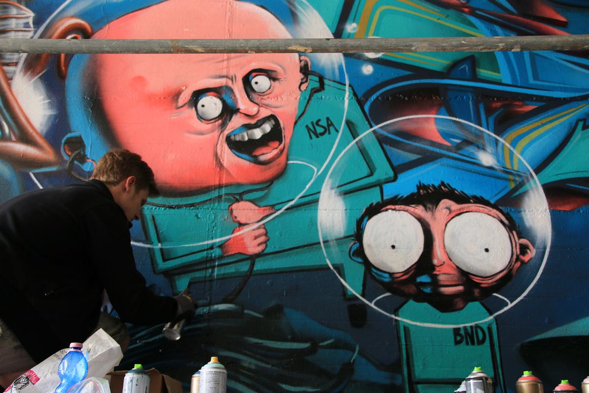 Nicht nur um die Umwelt sorgen sich die Künstler, auch um die Freiheit.