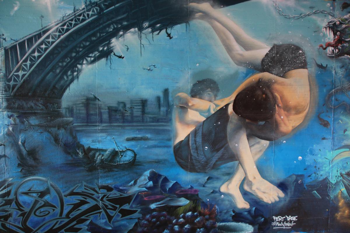 Die Unterwasserwelt als Ganzes.
