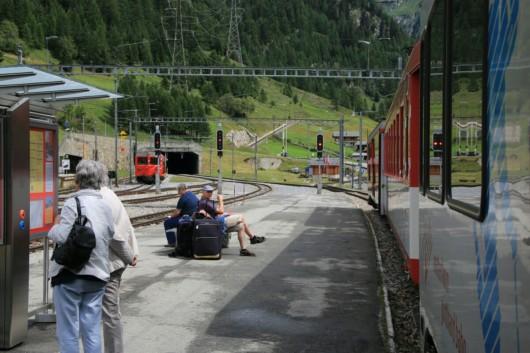 Kurz vor dem 15 Kilometer langen Furka-Basistunnel