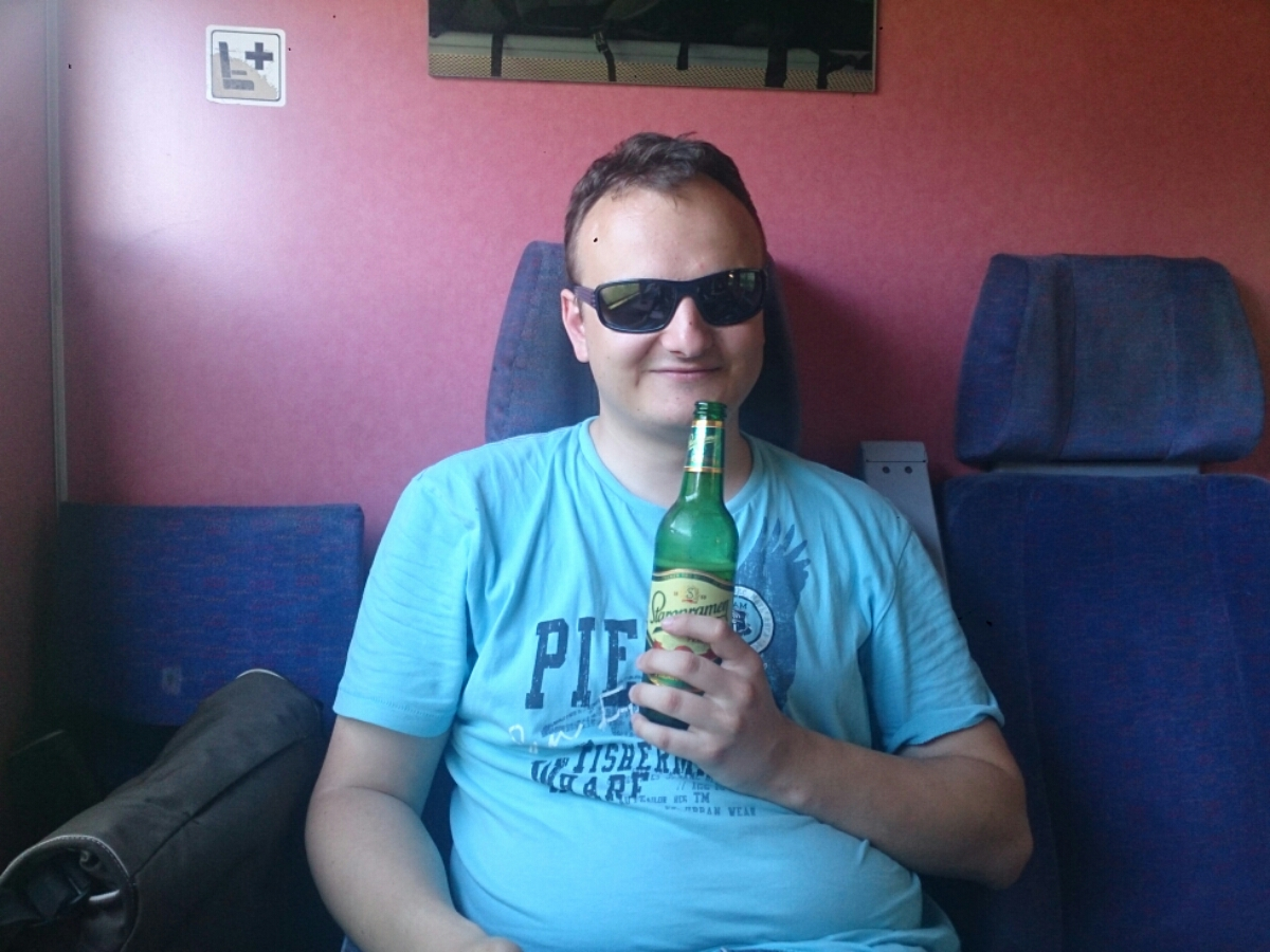 Mit kaltem Bier war ich wieder Happy!