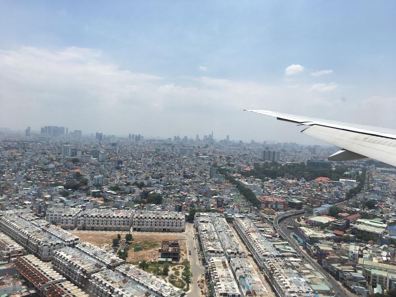 Im Landeanflug auf Ho-Chi-Minh-City.