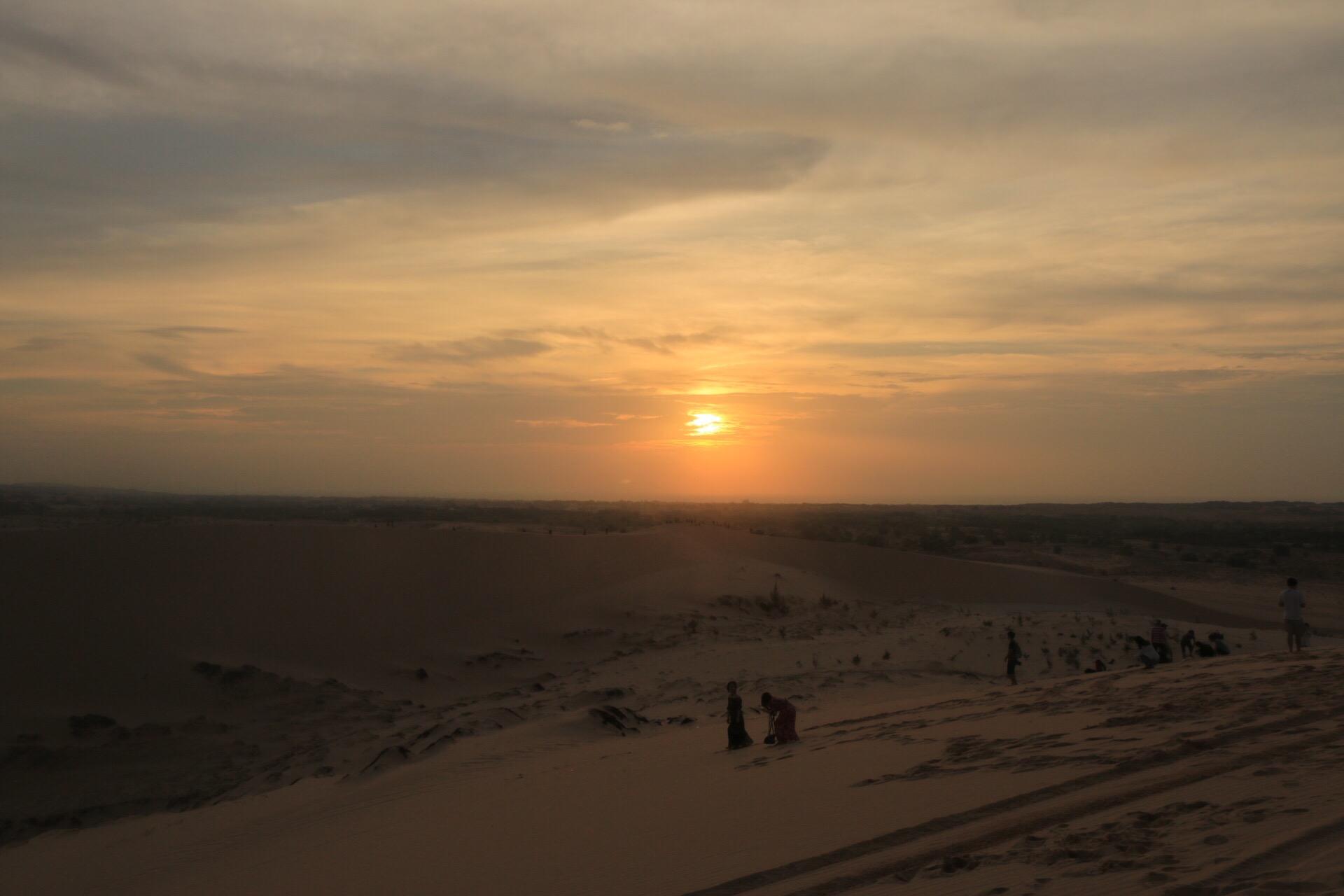Punkt 6 Uhr - die Sonne ließ sich blicken!