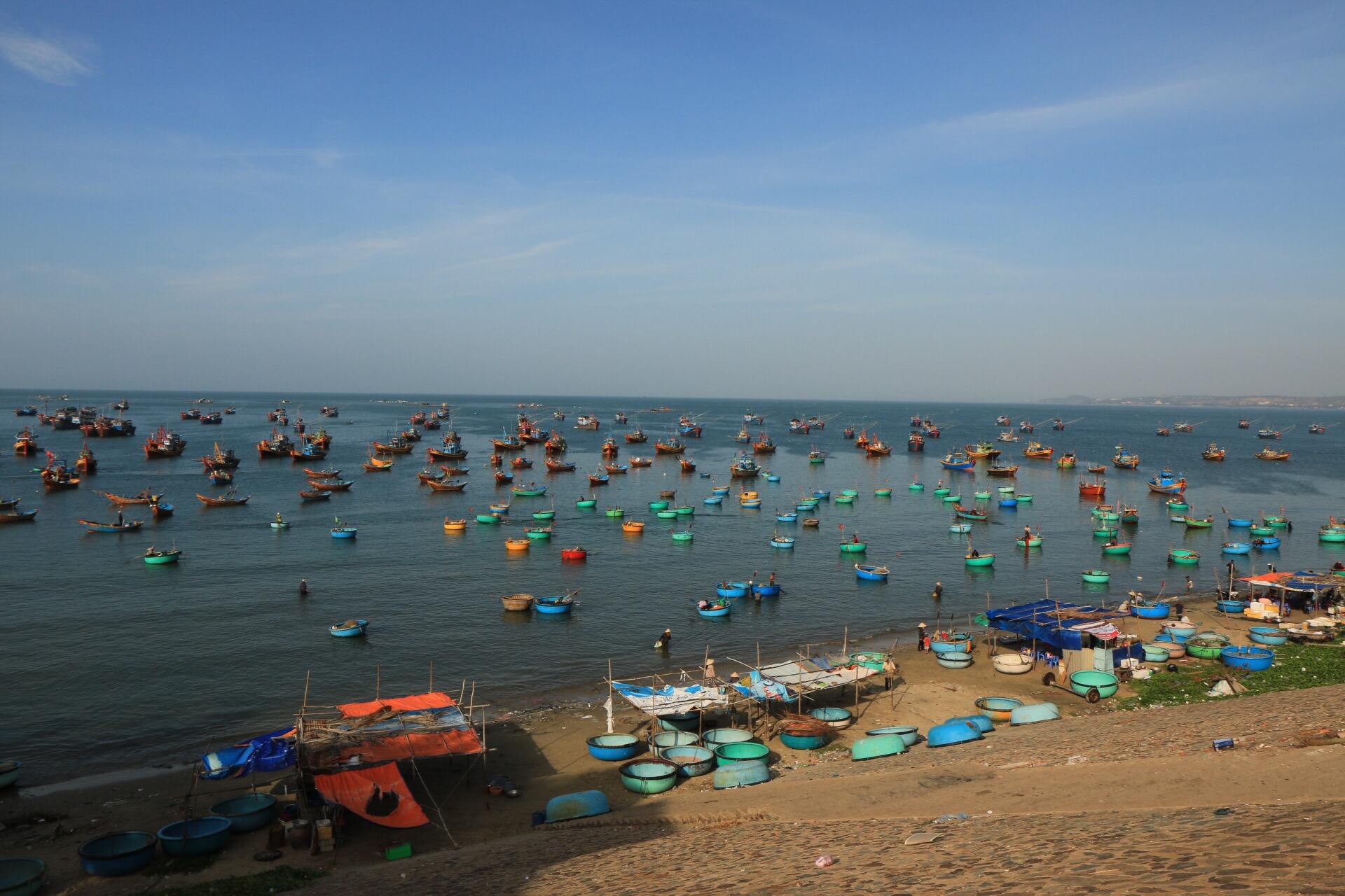 Im Hafen von Mui-Ne, hier wird zahlreich gefischt.