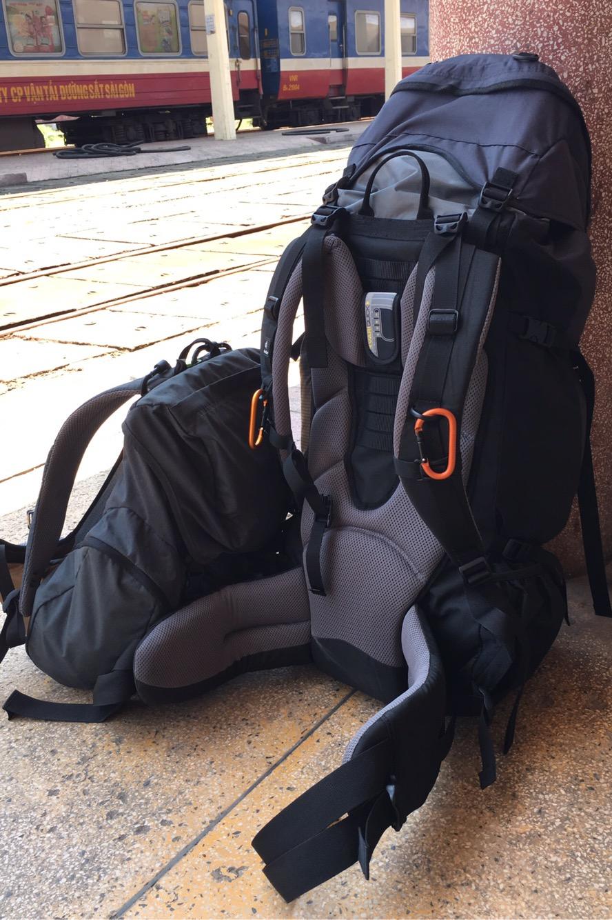 Meine zwei ständigen Begleiter. Kleiner und großer Rucksack. 👌🏻