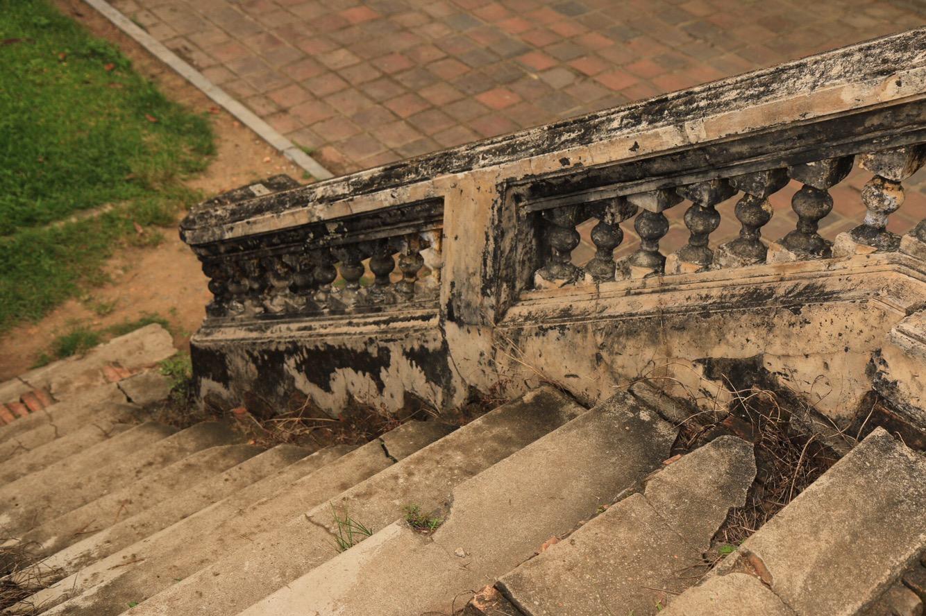 Treppen sind in Vietnam immer so eine Sache. Man guckt besser genau auf jede einzelne Stufe.