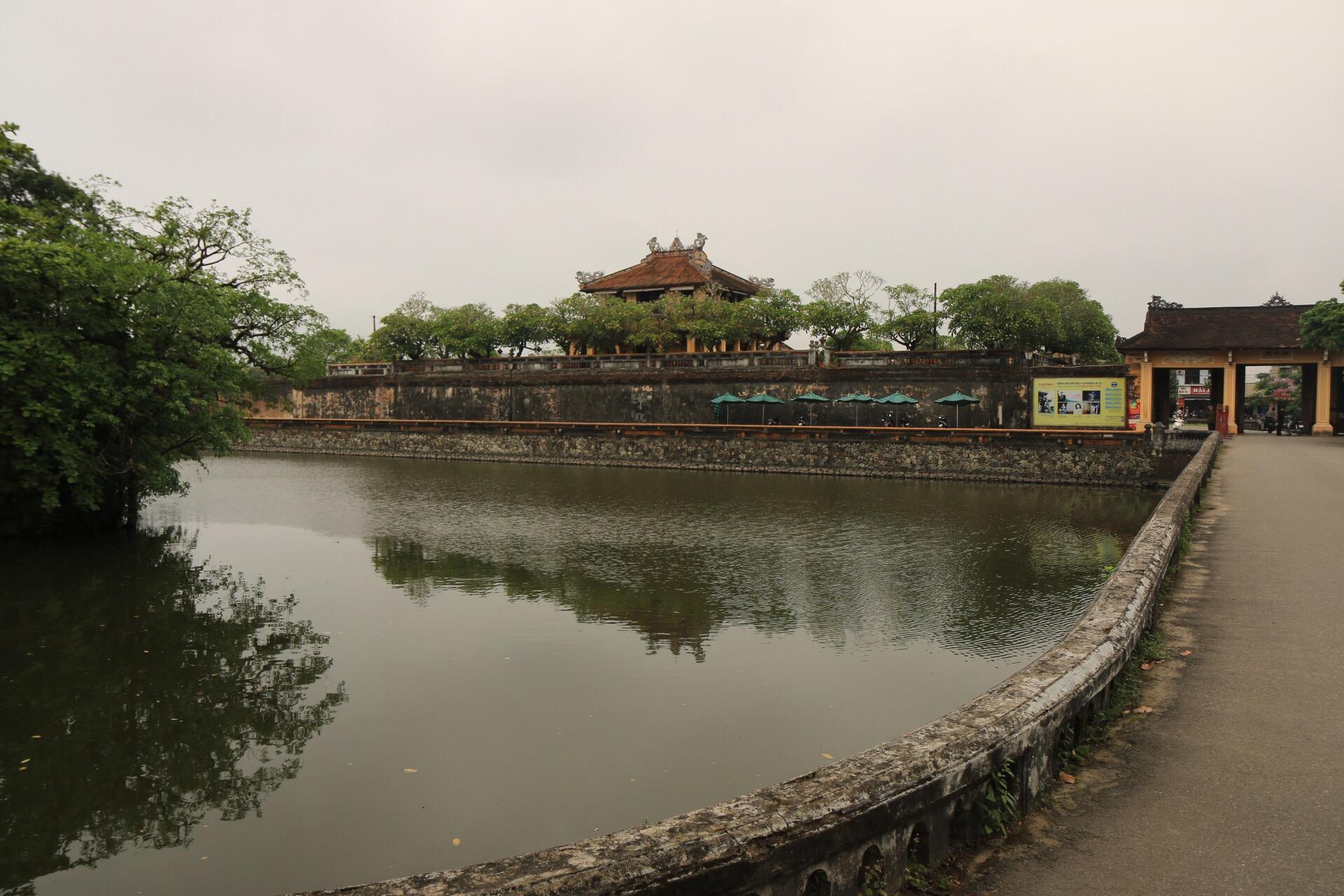 Das nördliche Tor der Kaiserstadt von Hue.