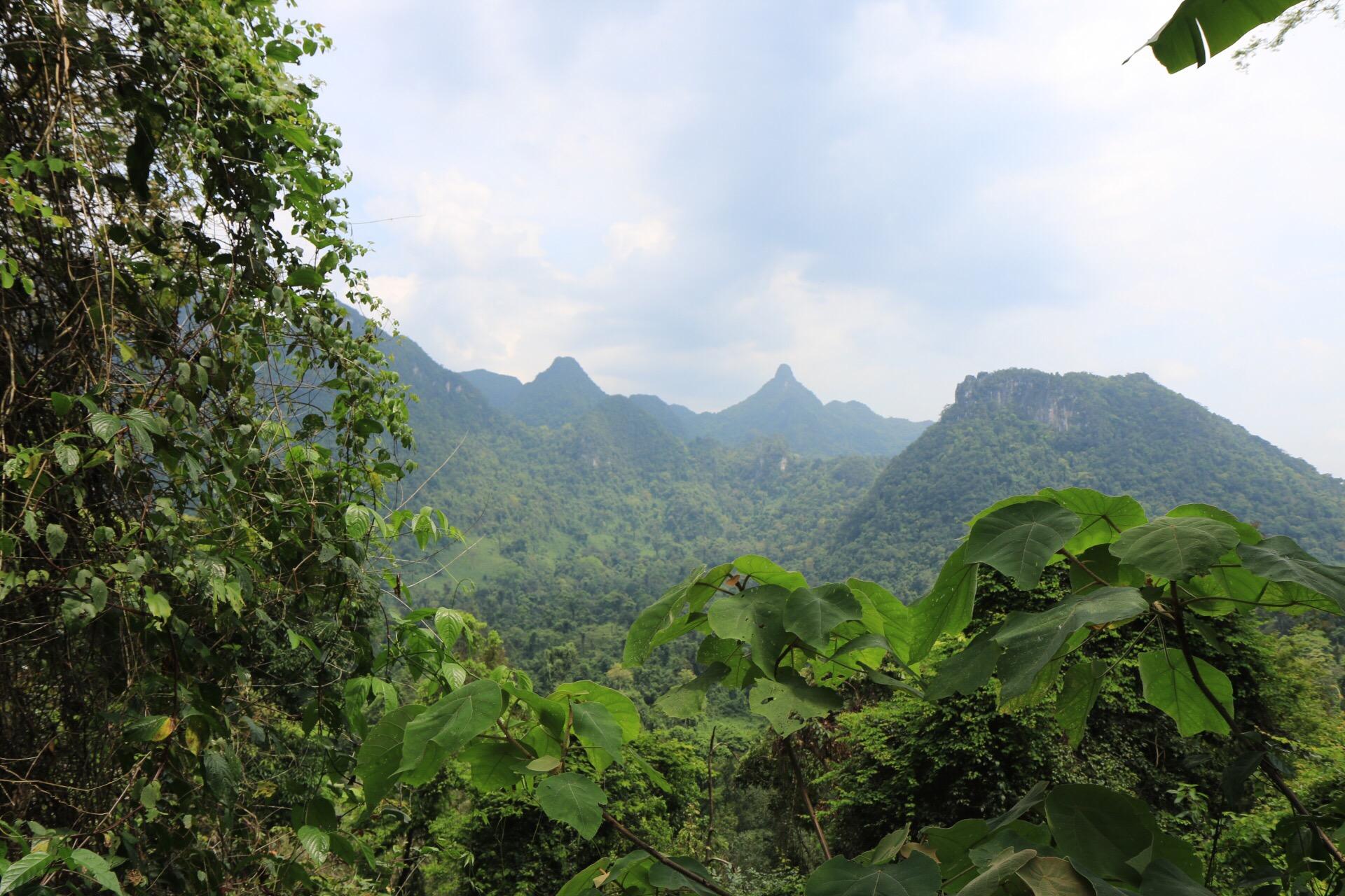 Nach der Bus- und Golfcaddy-Fahrt sowie kurzem Fußmarsch erreicht man das Plateau des Höhleneingangs.