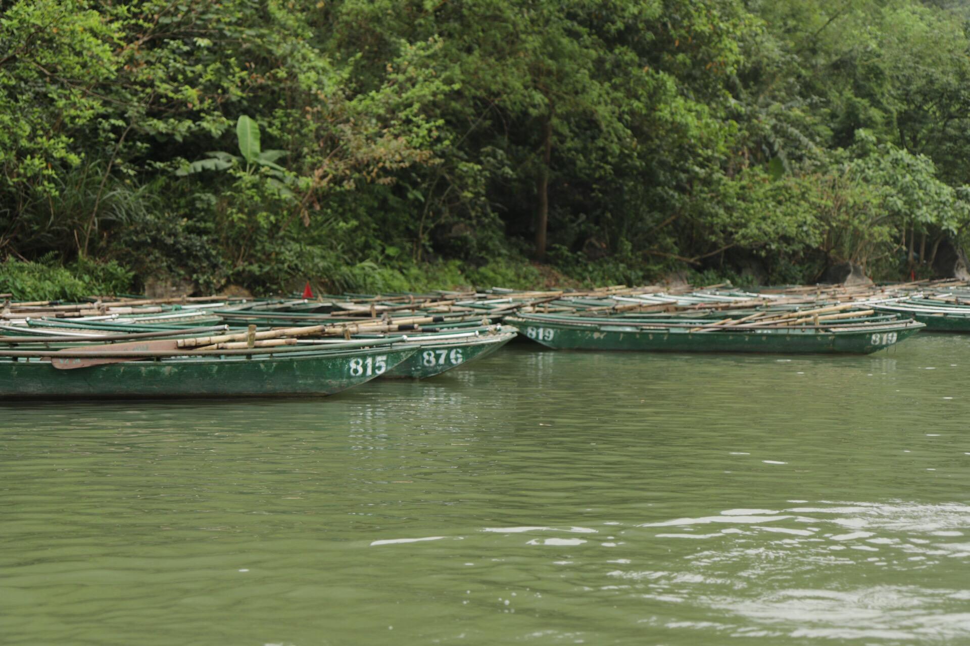 An den abgestellten Booten konnte man sehen, für welche Massen die Anlage ausgelegt war.