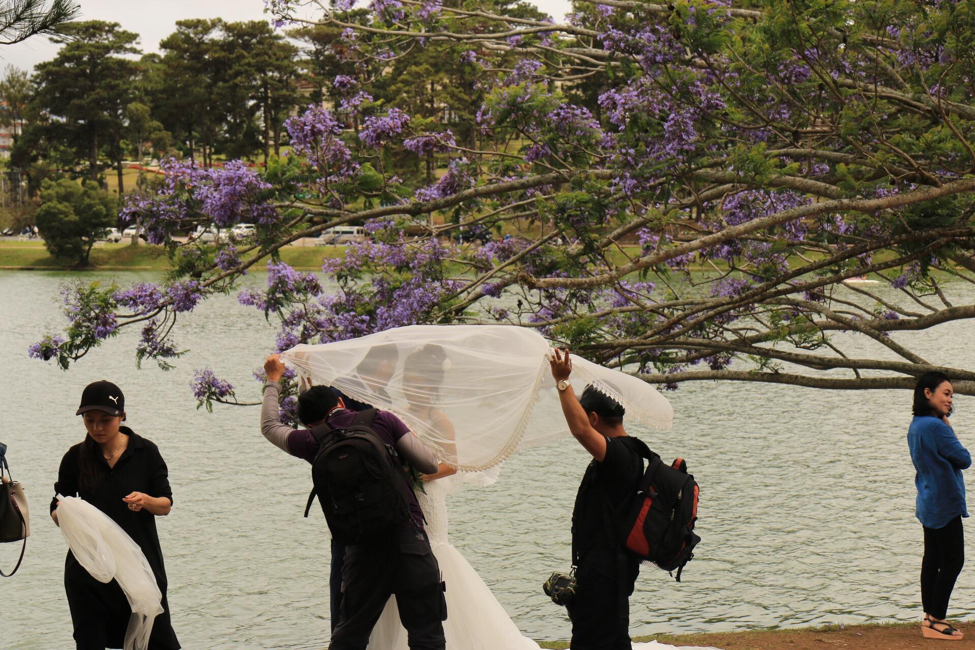 Hochzeitsfotoshooting direkt am See.