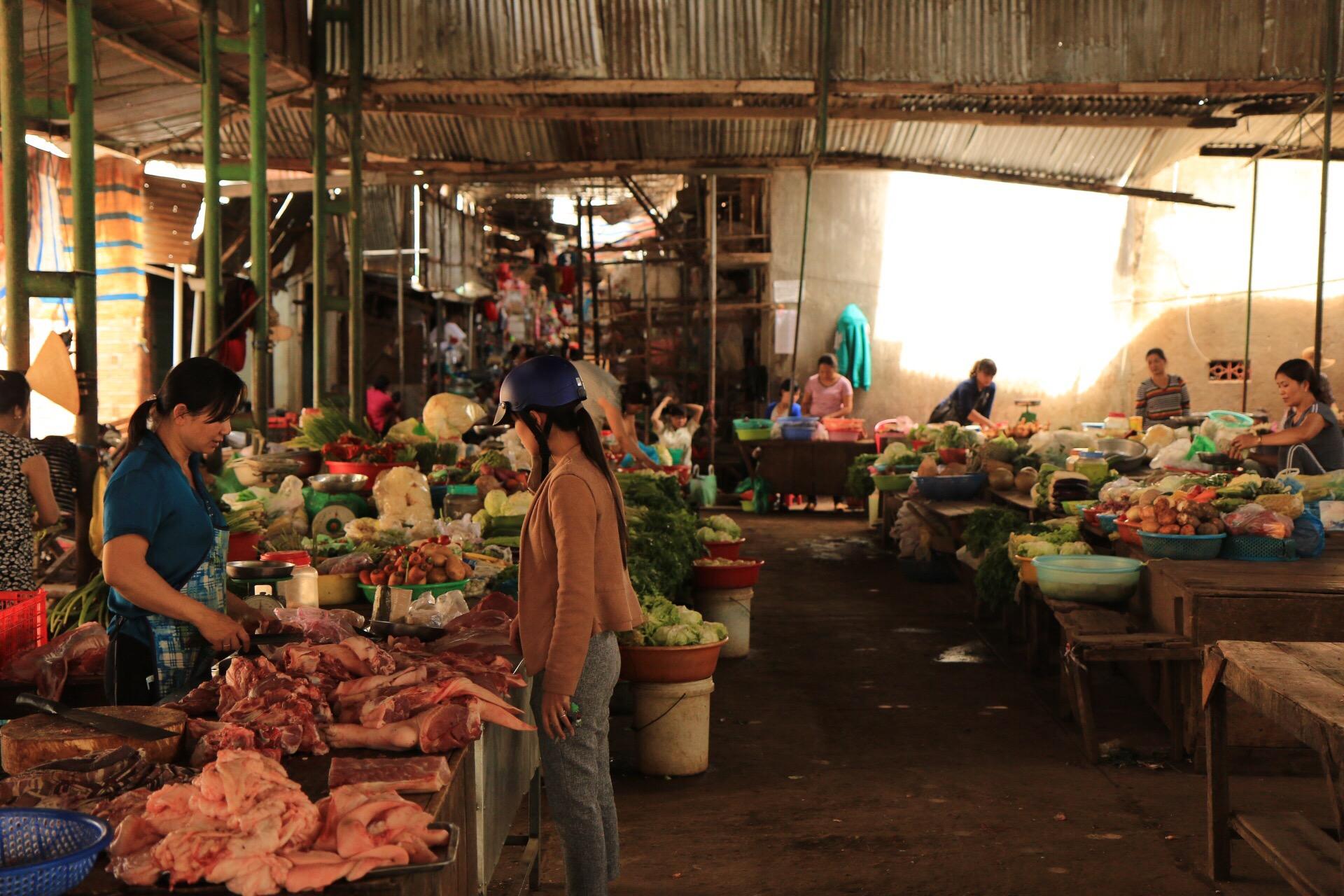 Der Markt für ist der Ort tägliche Besorgungen. Klassische Supermärkte gibt es kaum.