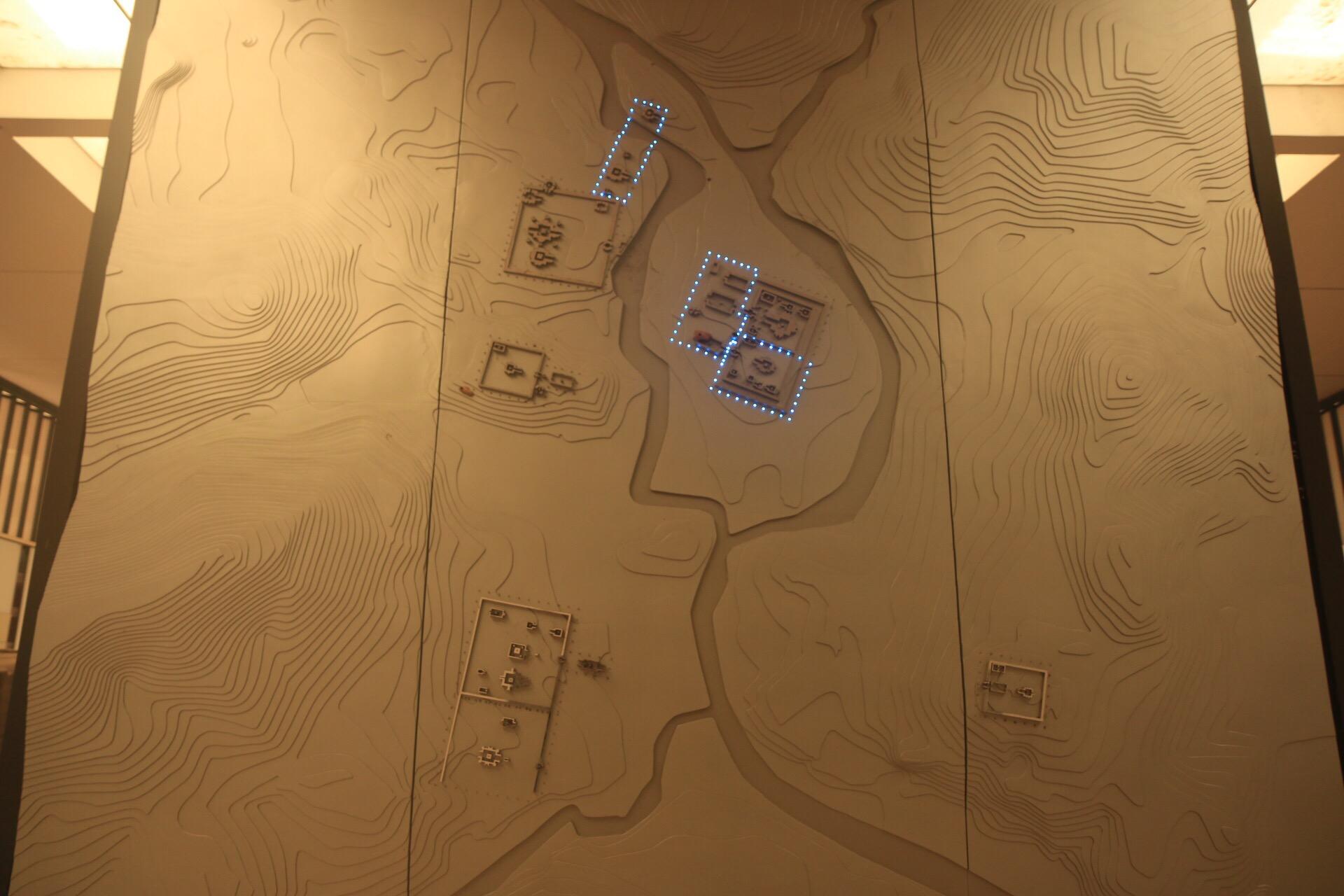 Im Museum am Eingang gibt eine Karte einen Überblick unser die weit verstreute Anlage.