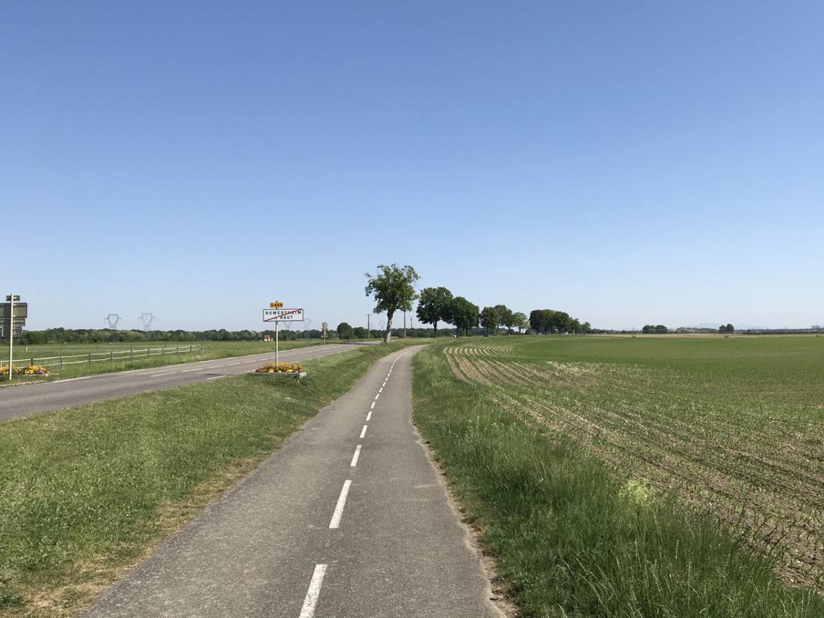 Radfahrer gab es zwar kaum welche, aber der Radweg war dafür umso besser ausgebaut.