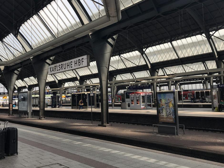 Das Ziel meiner Reise: der Karlsruher Hauptbahnhof.