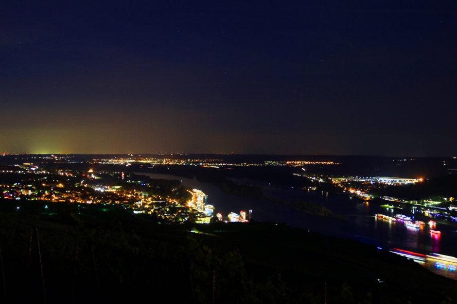 Mein Blick auf Rüdesheim am Rhein.