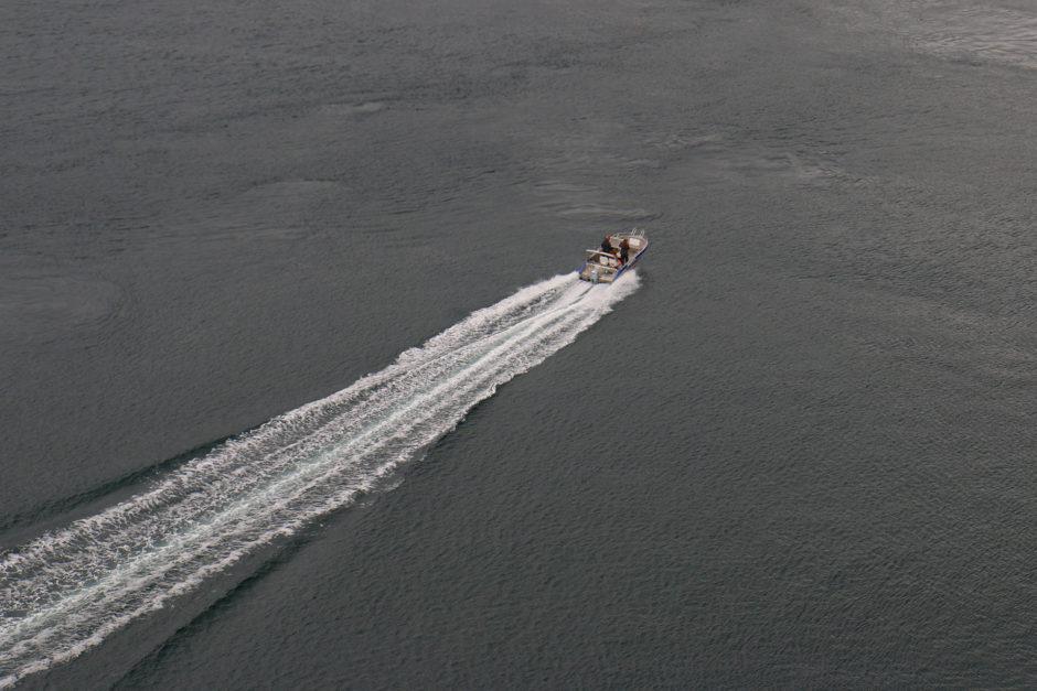 Das Spannendste war noch ein vorbeifahrendes Schnellboot.