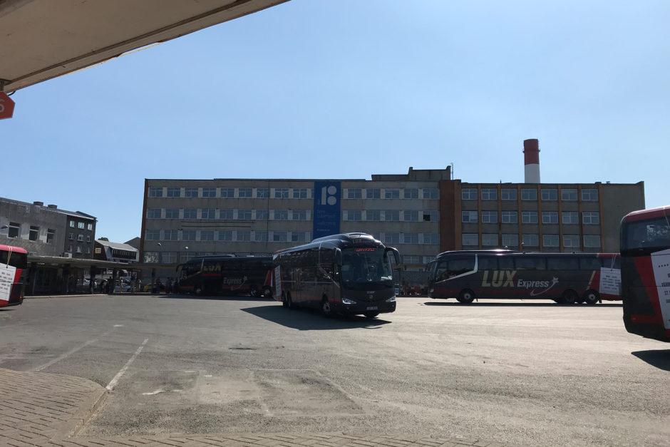 Der Busbahnhof in Tallinn war fest in der Hand von LuxExpress.