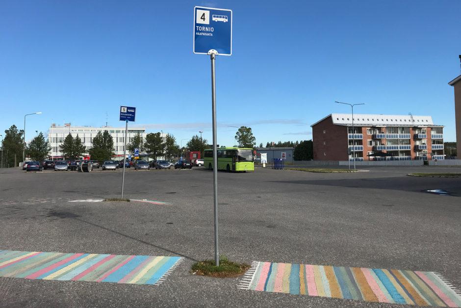 Der Busbahnhof in Kemi ist - sagen wir mal übersichtlich!