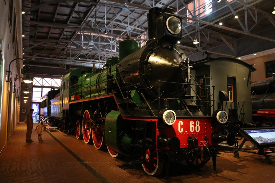 Zwei Ecken weiter diese tolle Dampflok! Baureihe C.68. Gebaut 1917 und bis Ende der 60er im Dienst.
