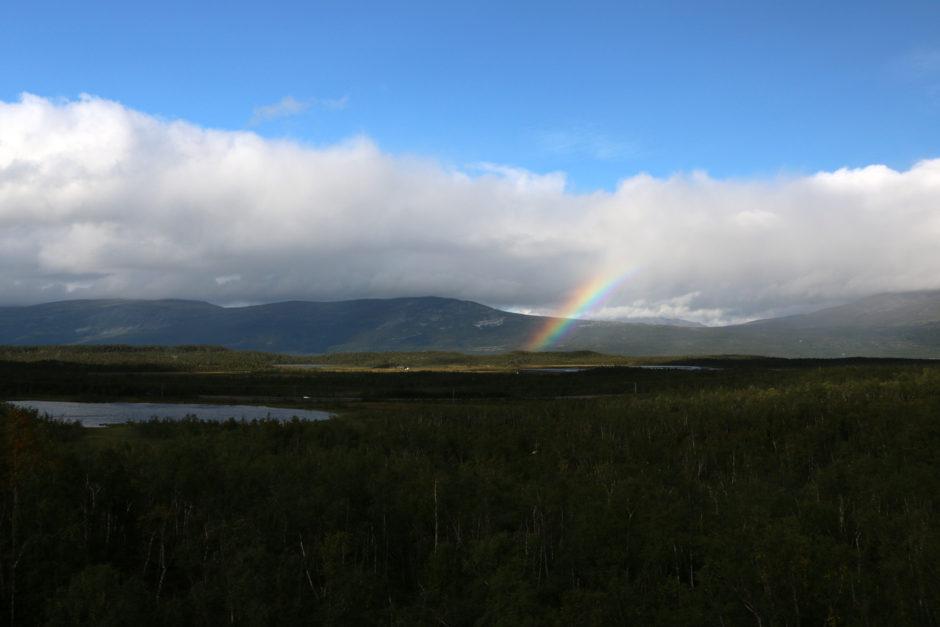 Für kurze Zeit erschien sogar ein prächtiger Regenbogen.