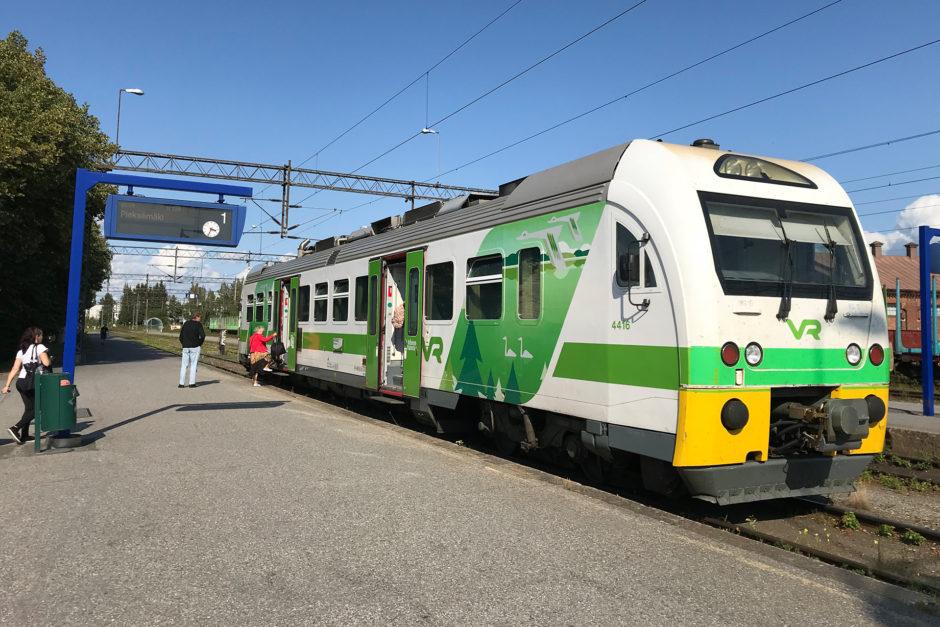 Mehr Zug gab's nicht. Meine Bummelbahn, die mich am Nachmittag nach Pieksämäki brachte.