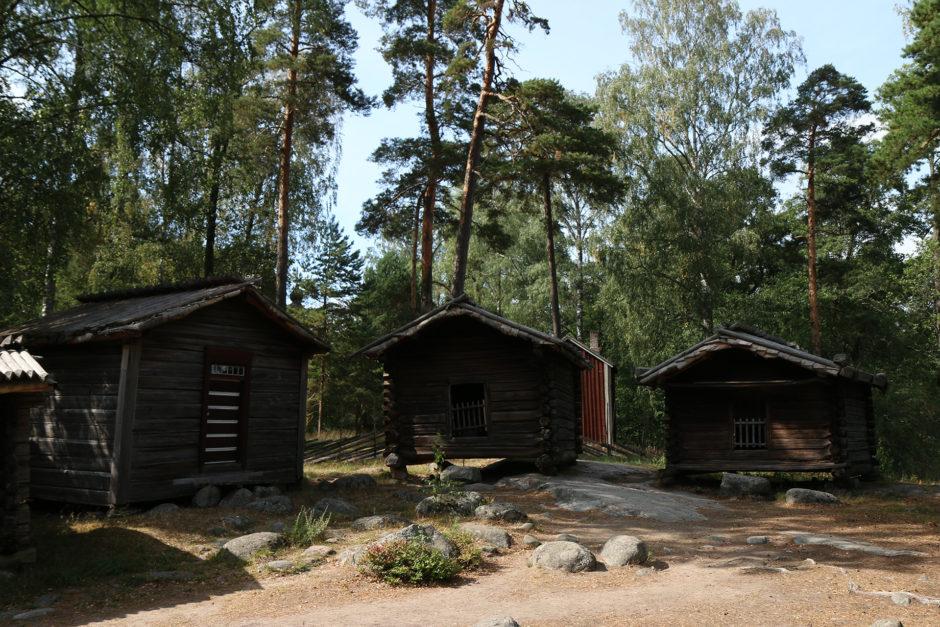 Ganz einfache Fischerhütten aus dem 16. und 17, Jahrhundert.