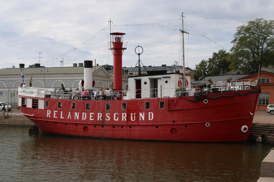 Ein noch erhaltenes Leuchtturmschiff. Diese ersetzten früher fixe Leuchttürme.