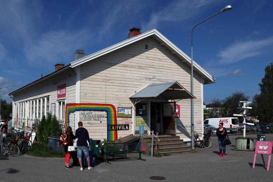 Das hübsche und gar nicht mal teure Café am Bahnhof in Joensuu.